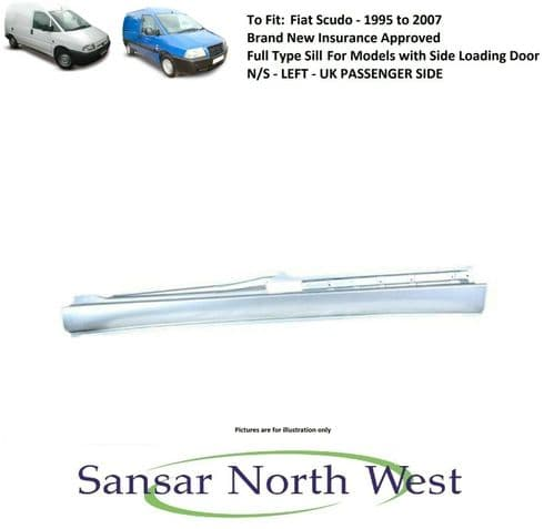 Fiat Scudo  - Passenger Side Sill Full Type -with Side Load Door N/S LEFT